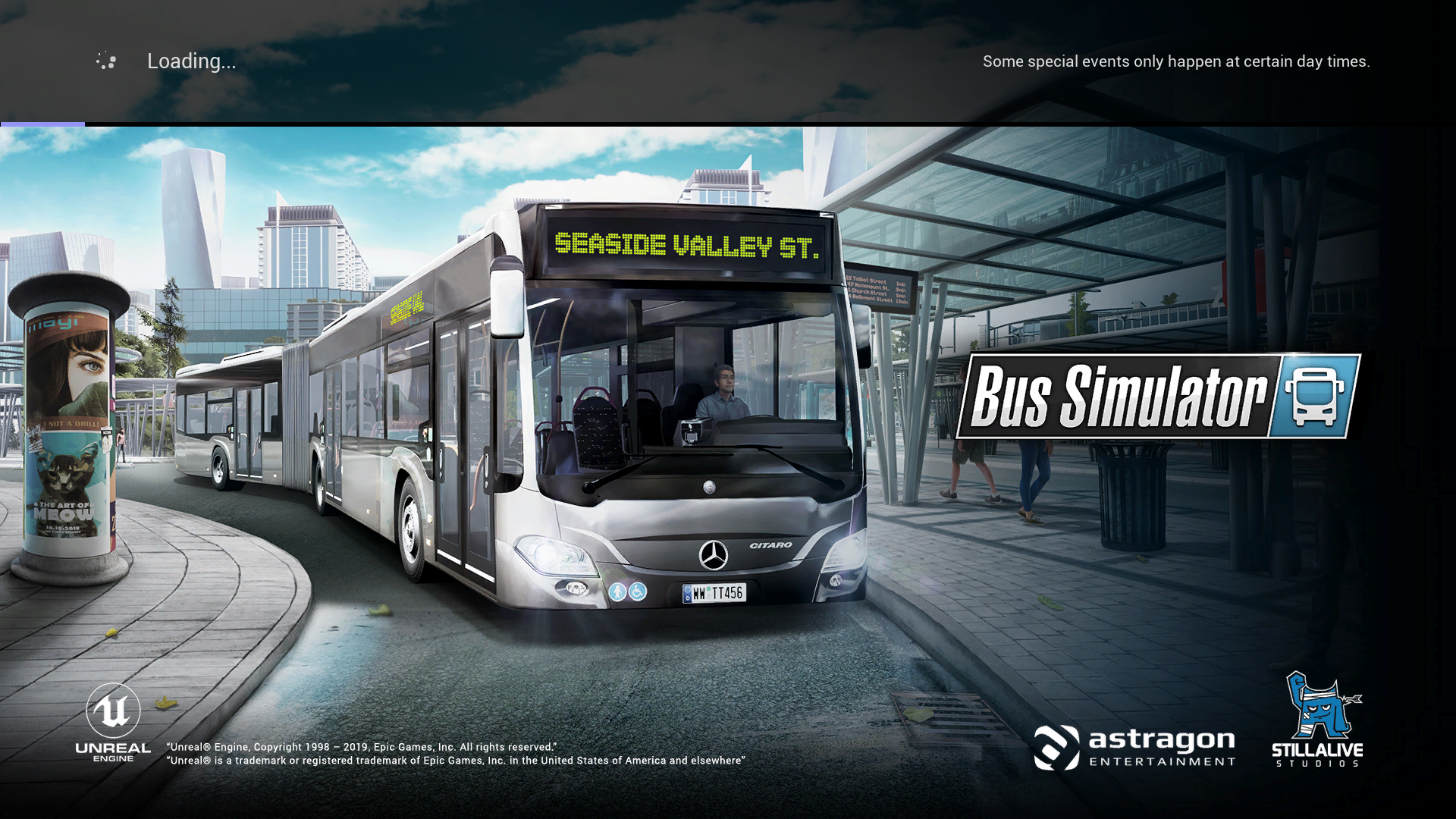 Bus Simulator Loading Page