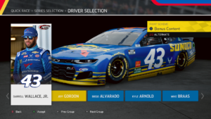 Bubba Wallace Sunoco Paint Scheme in NASCAR Heat 5 on Xbox One.