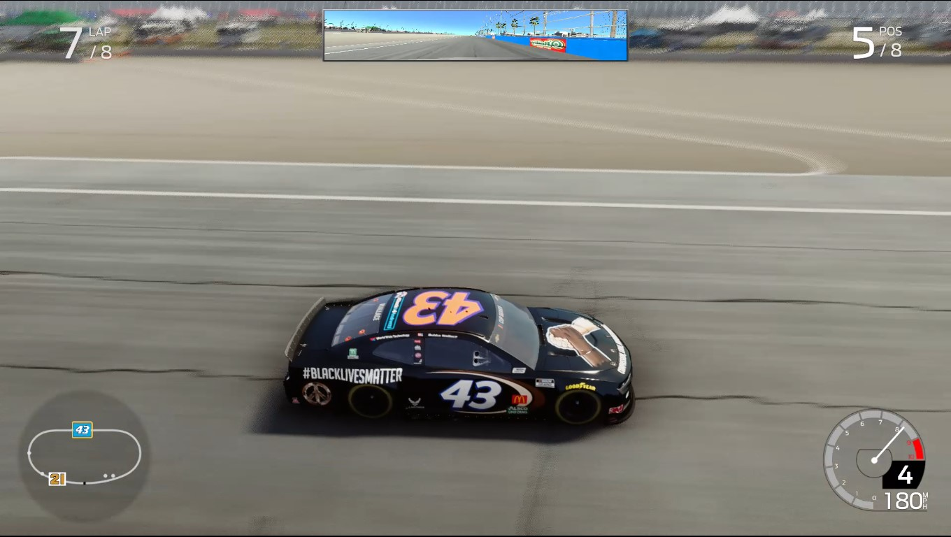 Black Lives Matter car in Nascar Heat 5 on Xbox One.